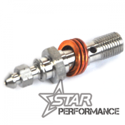 Bleed bolt - Double - M10 x 1.00 Stainless